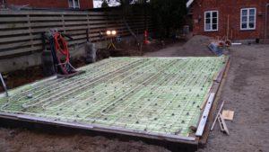 Eksempel 4 på arcusbyg arbejde med terrændæk og betongulv