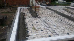 Eksempel 3 på arcusbyg arbejde med terrændæk og betongulv